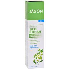 HGR0184416 - Jason Natural ProductsSea Fresh All Natural Sea Algae CoQ10 Tooth Gel Deep Sea Spearmint - 6 oz