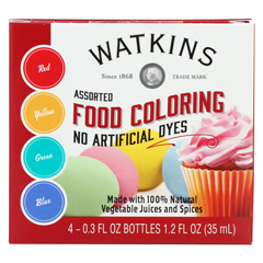 HGR01844208 - J.R. WatkinsFood Coloring - Assorted - Case of 6 - 4 Count