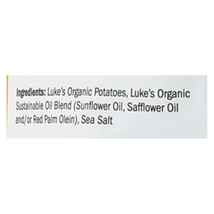 HGR01848209 - Luke's OrganicPotato Chips - Sea Salt - Case of 9 - 4.5 oz.