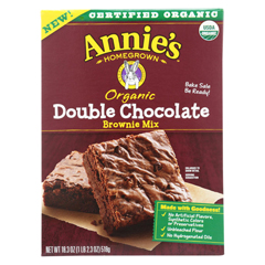 HGR01855253 - Annie's HomegrownOrganic Double Chocolate Brownie Mix - Case of 8 - 18.3 oz.