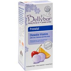 HGR0186569 - BellybarPrenatal Chewable Vitamin Mixed Fruit - 60 Chewable Tablets