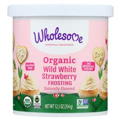 HGR01882521 - Wholesome SweetenersOrganic Frosting - White Strawberry - Case of 6 - 12.5 oz.