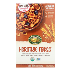 HGR0190140 - Nature's Path - Organic Heritage Flakes Cereal - Case of 12 - 13.25 oz..