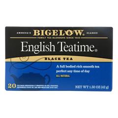 HGR0190371 - Bigelow - English Teatime Black Tea - Case of 6 - 20 Bags