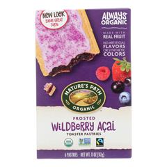 HGR0194019 - Nature's Path - Organic Frosted Toaster Pastries - Wildberry Acai - Case of 12 - 11 oz..