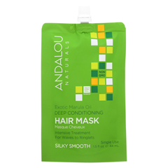 HGR01988757 - Andalou NaturalsSilky Smooth Hair Mask -Exotic Marula Oil - Case of 6 - 1.5 fl oz.