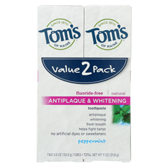HGR01992106 - Tom's Of MaineToothpaste - Anti Plaque - White - Case of 3 - 2 count