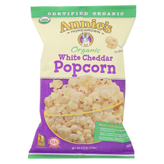 HGR02010072 - Annie's HomegrownOrganic Popcorn - White Cheddar - Case of 12 - 4.4 oz.