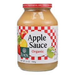 HGR0201707 - Eden Foods - 100% Organic Applesauce - Case of 12 - 25 oz.