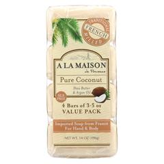 HGR02027191 - A La MaisonBar Soap - Pure Coconut - 4/3.5 oz.