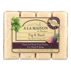 HGR02027225 - A La MaisonBar Soap - Fig and Basil - 4/3.5 oz.