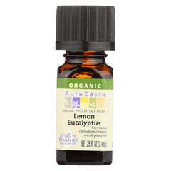 HGR02043107 - Aura Cacia - Essential Oil - Organic - Lemon Eucalypts - .25 fl oz.