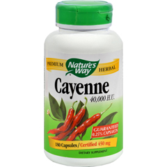 HGR0205120 - Nature's WayCayenne 40000 HU - 450 mg - 180 Capsules