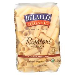 HGR0205864 - Delallo - Organic Rigatoni Case of 16 - 1 lb.