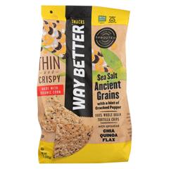 HGR02067544 - Way Better SnacksTortilla Chip - Cracked Pepper Sea Salt - Case of 9 - 11 oz.