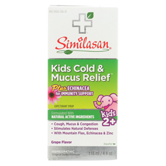 HGR02094647 - SimilasanKids Cold Syrup - Mucus Relief - 4 fl oz.