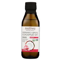 HGR02118610 - NutivaOil - Organic - Liquid Coconut - Garlic - Case of 6 - 8 fl oz.
