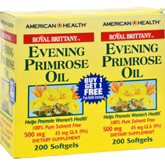 HGR0216267 - American HealthRoyal Brittany Evening Primrose Oil - 500 mg - 2 Bottles of 200 Softgels