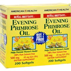 HGR0216267 - American Health - Royal Brittany Evening Primrose Oil - 500 mg - 2 Bottles of 200 Softgels