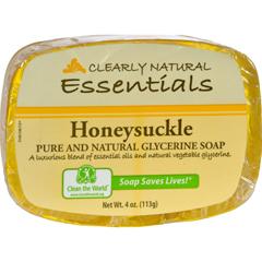 HGR0216564 - Clearly NaturalGlycerine Bar Soap Honeysuckle - 4 oz