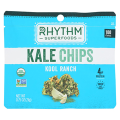 HGR02187417 - Rhythm SuperfoodsKale Chips - Organic - Kool Ranch - Case of 8 - .75 oz.