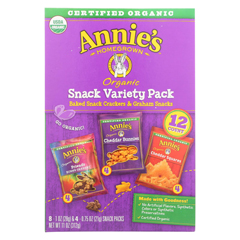 HGR02199073 - Annie's HomegrownSnack Pack - Organic - Variety - 12Ct - Case of 6 - 12 count