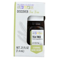 HGR02251932 - Aura Cacia - Discover Essential Oil - Tea Tree - Case of 3-.25 fl oz.