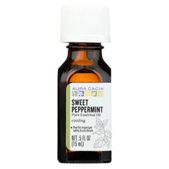 HGR02253706 - Aura Cacia - Essential Oil - Peppermint, Sweet - Case of 1 - .50 fl oz.