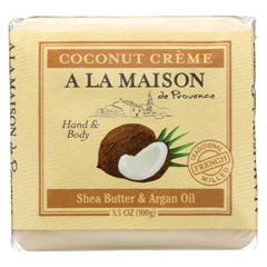 HGR02254282 - A La MaisonBar Soap - Pure Coconut - Case of 6 - 3.5 oz.