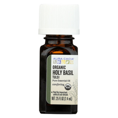 HGR02258085 - Aura Cacia - Essential Oil - Holy Basil - Case of 1 - .25 fl oz.