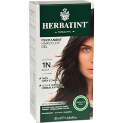 HGR0226589 - HerbatintPermanent Herbal Haircolour Gel 1N Black - 135 ml