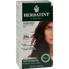 HGR0226597 - HerbatintPermanent Herbal Haircolour Gel 2N Brown - 135 ml