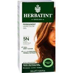 HGR0226662 - HerbatintPermanent Herbal Haircolour Gel 5N Light Chestnut - 135 ml