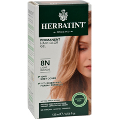 HGR0226696 - HerbatintPermanent Herbal Haircolour Gel 8N Light Blonde - 135 ml