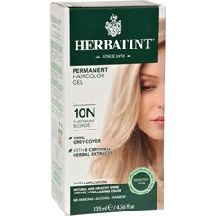 HGR0226738 - HerbatintPermanent Herbal Haircolour Gel 10N Platinum Blonde - 135 ml