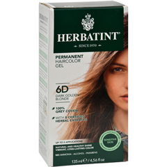 HGR0226795 - HerbatintPermanent Herbal Haircolour Gel 6D Dark Golden Blonde - 135 ml
