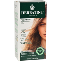 HGR0226811 - HerbatintPermanent Herbal Haircolour Gel 7D Golden Blonde - 135 ml