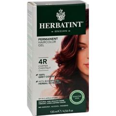 HGR0226894 - HerbatintPermanent Herbal Haircolour Gel 4R Copper Chestnut - 135 ml