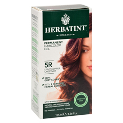 HGR0226910 - HerbatintPermanent Herbal Haircolour Gel 5R Light Copper Chestnut - 135 ml