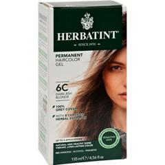 HGR0226969 - HerbatintPermanent Herbal Haircolour Gel 6C Dark Ash Blonde - 135 ml