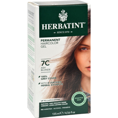 HGR0226977 - HerbatintPermanent Herbal Haircolour Gel 7C Ash Blonde - 135 ml