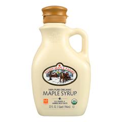 HGR0234781 - Shady Maple Farms - 100 Percent Pure Organic Maple Syrup - Case of 6 - 32 Fl oz..