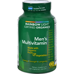 HGR0235671 - Rainbow LightCertified Organics Mens Multivitamin - 120 Vegetarian Capsules