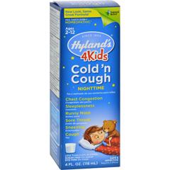 HGR0247544 - Hyland'sNight Time Cold N Cough 4 Kids - 4 fl oz