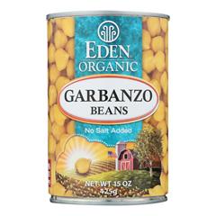 HGR0260307 - Eden Foods - Organic Garbanzo Beans - Case of 12 - 15 oz.