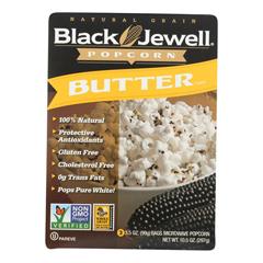 HGR0260919 - Black Jewell - Microwave Popcorn - Butter - Case of 6 - 10.5 oz..