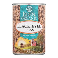 HGR0261172 - Eden FoodsOrganic Black Eyed Peas - Case of 12 - 15 oz.