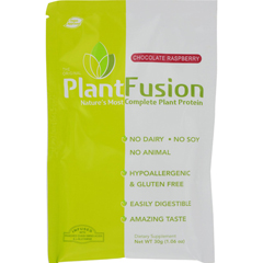 HGR0264366 - PlantfusionChocolate Raspberry Packets - Case of 12 - 30 Grams