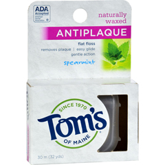 HGR0268110 - Tom's of MaineAntiplaque Flat Floss Waxed Spearmint - 32 Yards - Case of 6