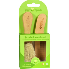 HGR0270561 - Green SproutsComb and Brush Set
